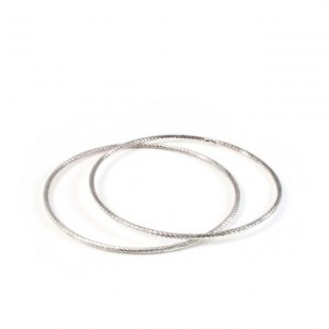 Sterling silver faceted bangles