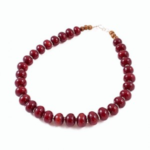Tibetan burgundy necklace