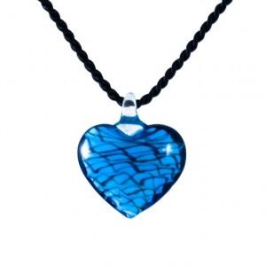 Murano blue glass hart