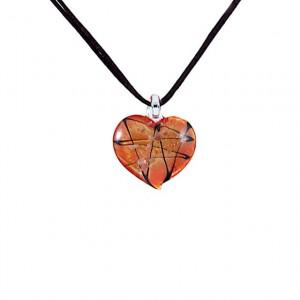 Pendant Morano hart shape glass