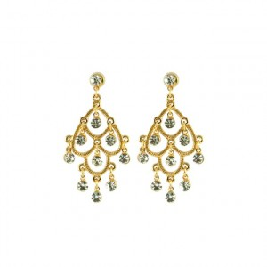 Earrings - Gold chandelier earrings