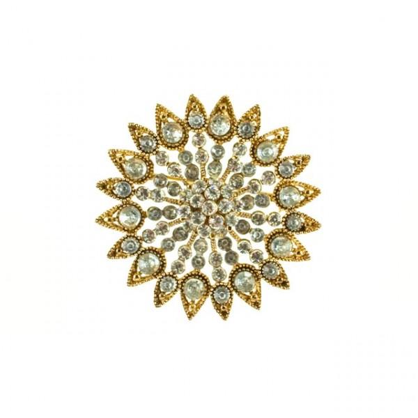 Gold Star burst pendant