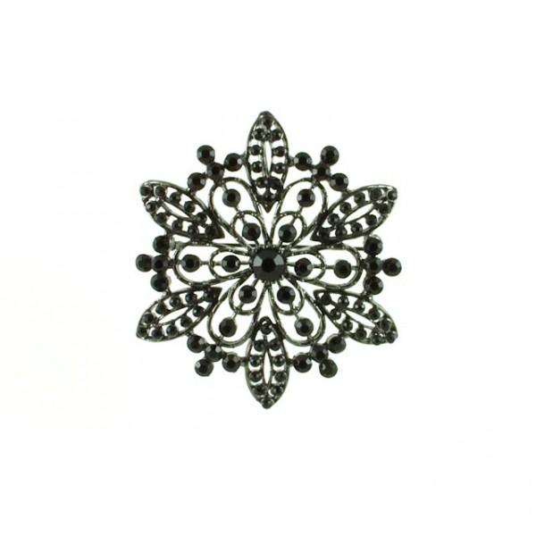 Brooch-Black stone brooch
